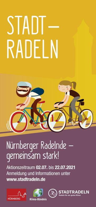 Werbeplakat Stadtradeln der Stadt Nürnberg. Alle Informationen im Fließtext.